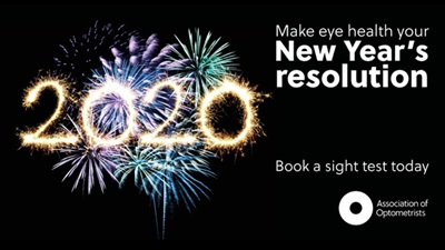 2020 Make eye health your New Year's resolution poster