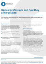 The professions in optics key fact sheet cover