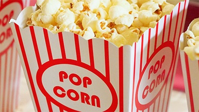 Popcorn - illustrating 3D films and children's vision