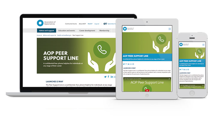 AOP Peer Support Line launch