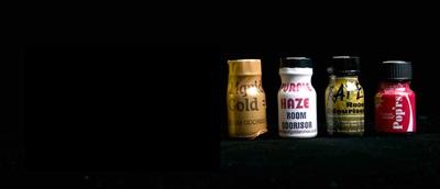 Bottles of poppers