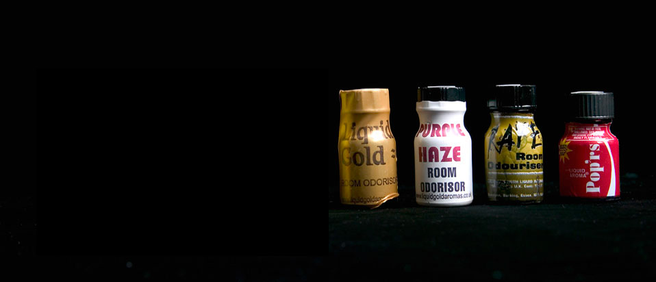 Bottles of poppers