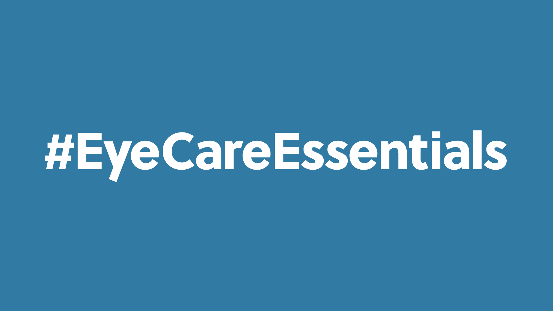 Eye Care Essentals campaign header