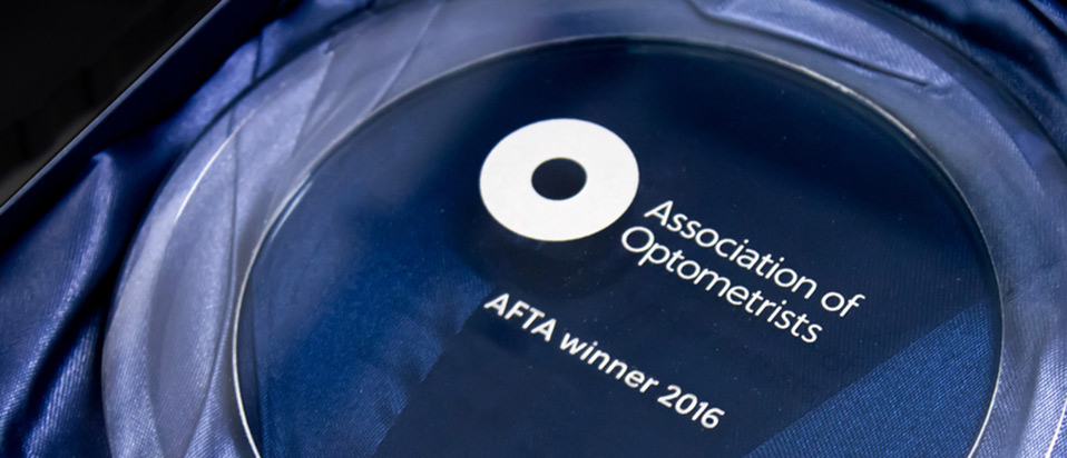 AOP Film and Television Awards glass trophy