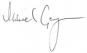 Mike George's signature