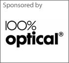 100% Optical sponsors logo