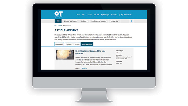 Browse the OT CET archive or articles as a study aid