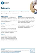 Cataracts advice from the AOP