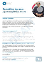 Patient leaflet on domiciliary eye care