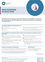 NHS funding England leaflet