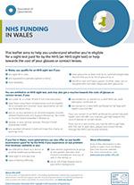 NHS funding Wales leaflet