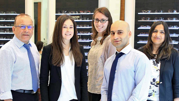 group of optometrists