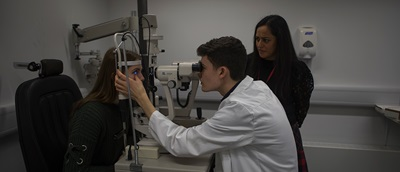 young optometrist