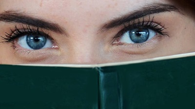 Eyes and book