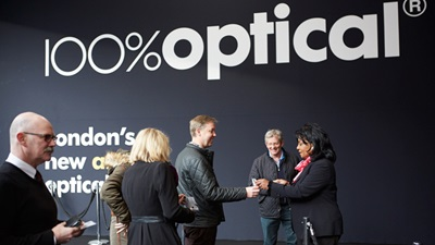 People entering the doors at 100% Optical 2015