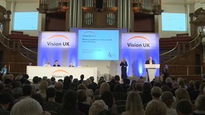 Delegates in lecture at the Vision UK Conference 2015