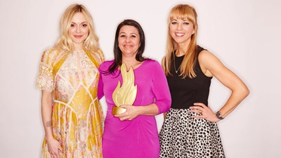 Fearne Cotton, Emma Sailsbury and Sara Cox