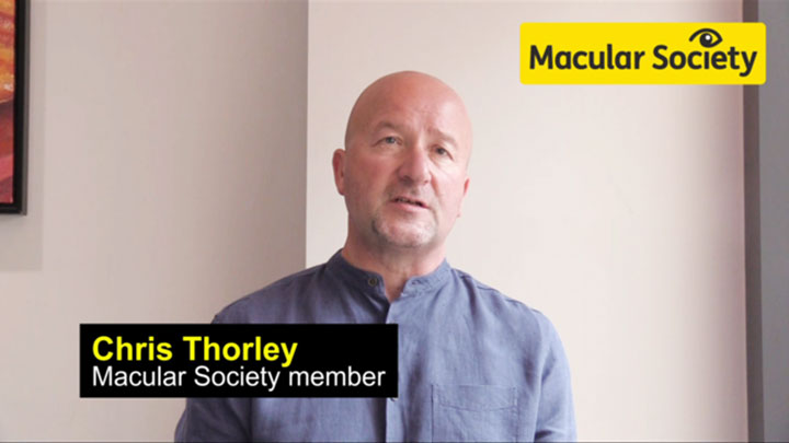 Macular Society member Chris Thorley