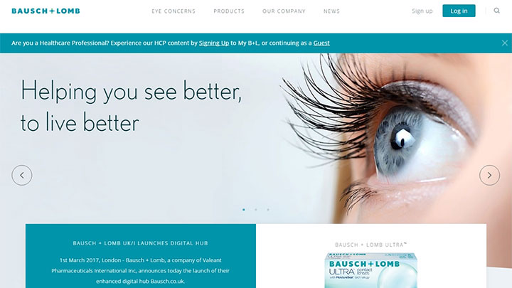 Bausch & Lomb website