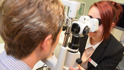 Patient receives sight test