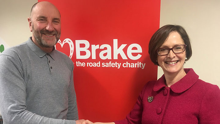 Brake's Gary Rae and Vision Express' Jenny Wye