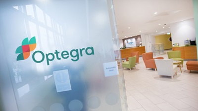 Interior of Optegra Eye Hospital facility