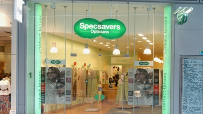 Exterior of a Specsavers Opticians practice