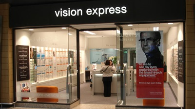 Exterior of a Vision Express practice