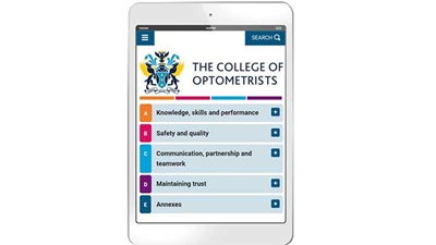 College of Optometrists guidelines