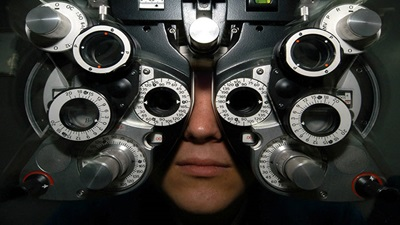 Person having a sight test
