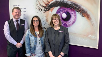 Carolyn Parker Opticians team