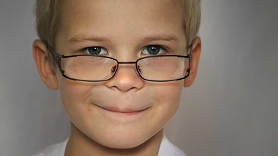 A child wearing spectacles