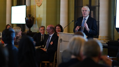 John Major speaking at a SeeAbility event