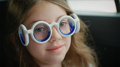 A child wearing googles