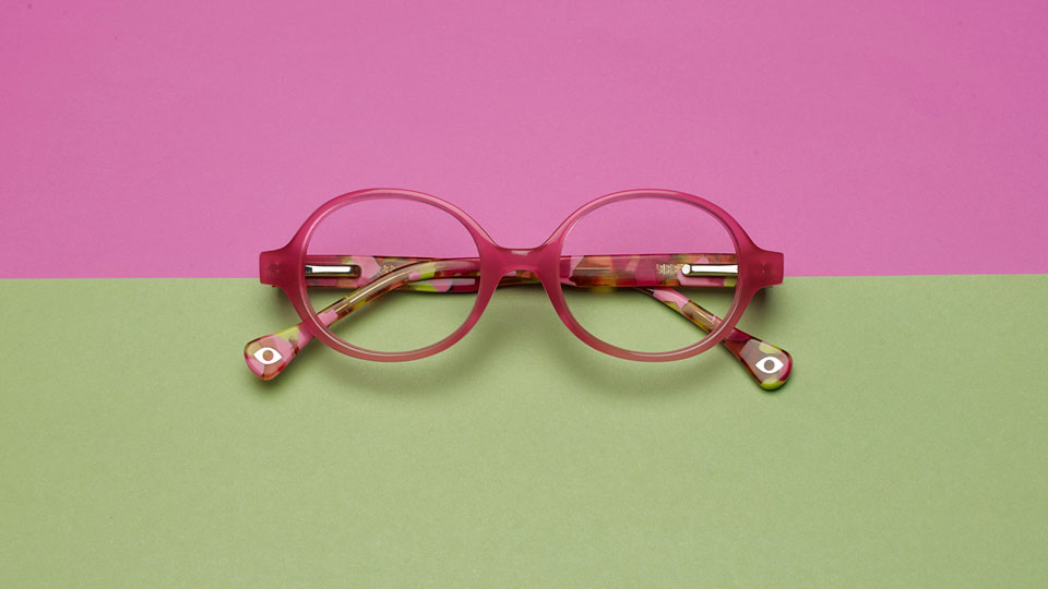 Pink and green frames