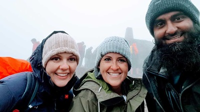 Specsavers staff at the top of Ben Nevis