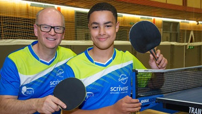 Scrivens table tennis sponsorship