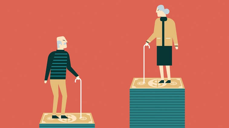 Elderly people illustration