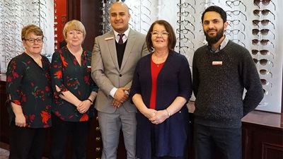 MP for Blackburn visits Tyrells and Embery Optometry