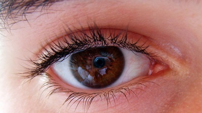 Brown eye close-up