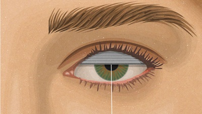 Eye shutter illustration
