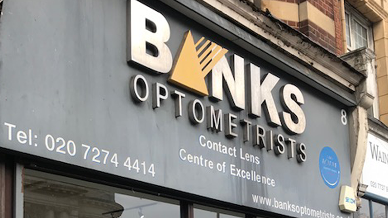 Bank optometrists exterior