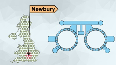 UK map Newbury