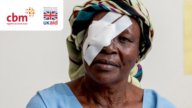 lady with eye patch