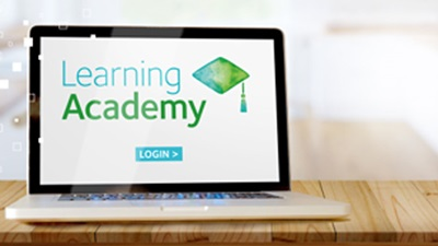 e-learning on laptop