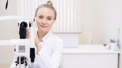 female optometrist