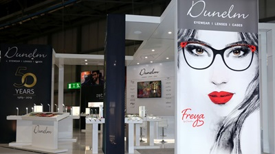 Dunelm Optical exhibition stand