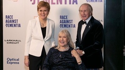 Nicola Sturgeon Lady Helen and Sir Jackie Stewart