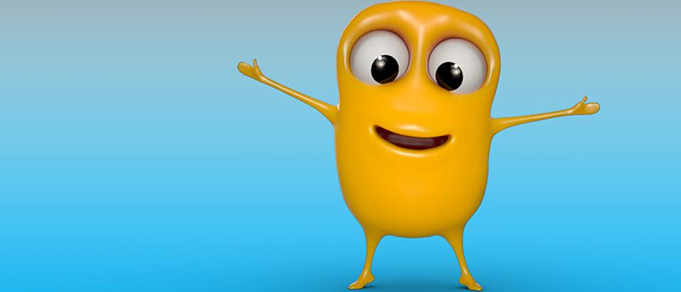 The Macular Society's new animated character 'Mac'