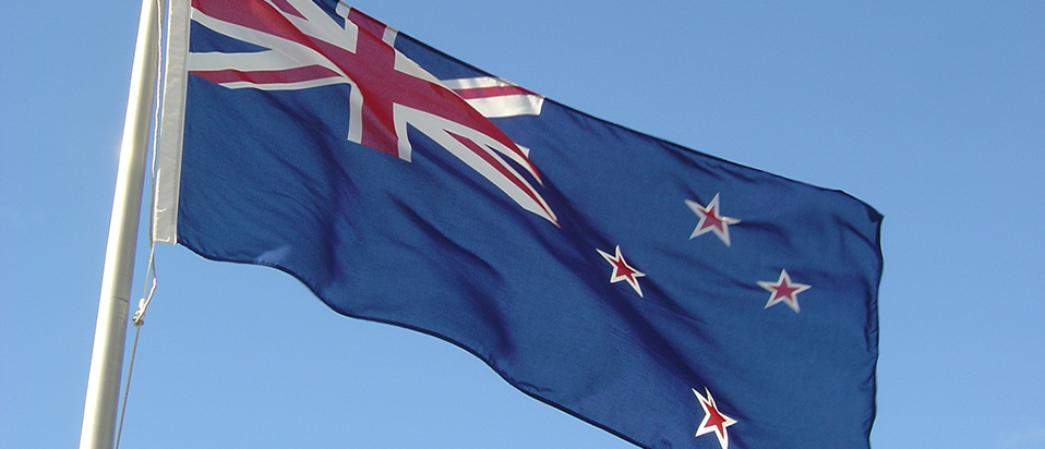 New Zealand flag banner
